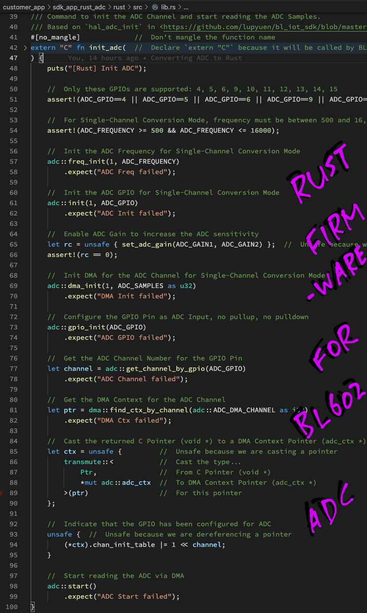 Rust Firmware for BL602 ADC