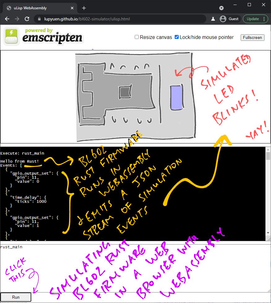 BL602 Simulator in WebAssembly