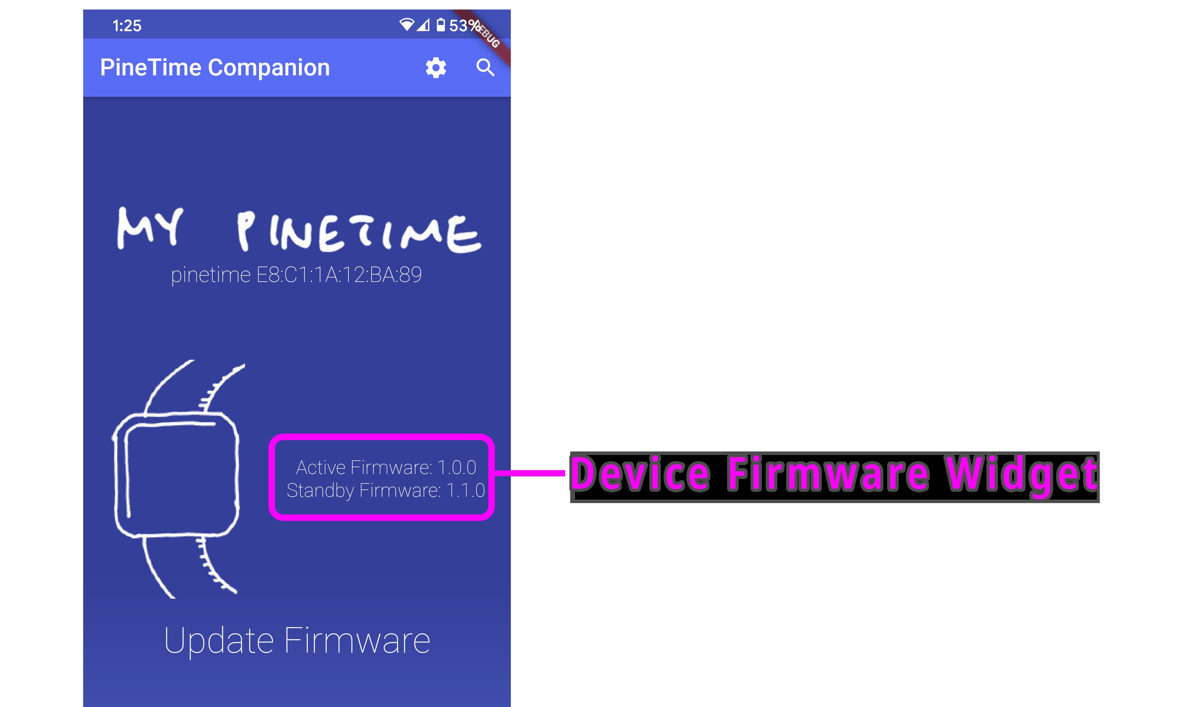 Device Firmware Widget