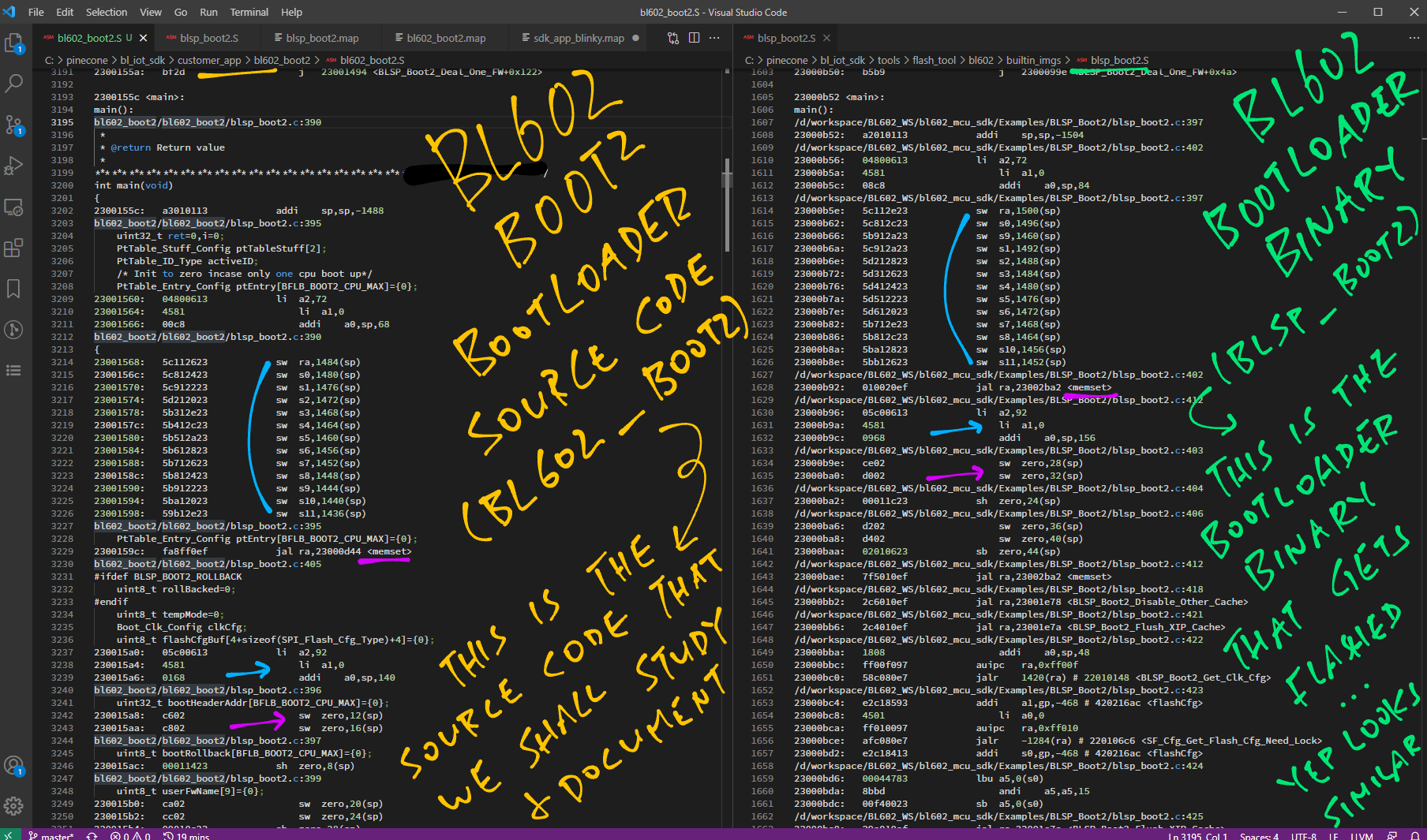 Comparing bl602_boot2 with blsp_boot2
