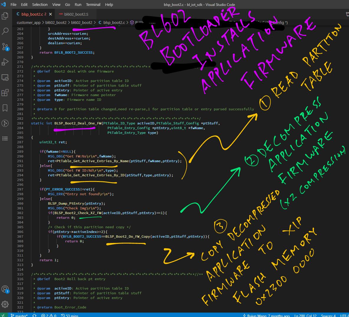 Bootloader installing Application Firmware