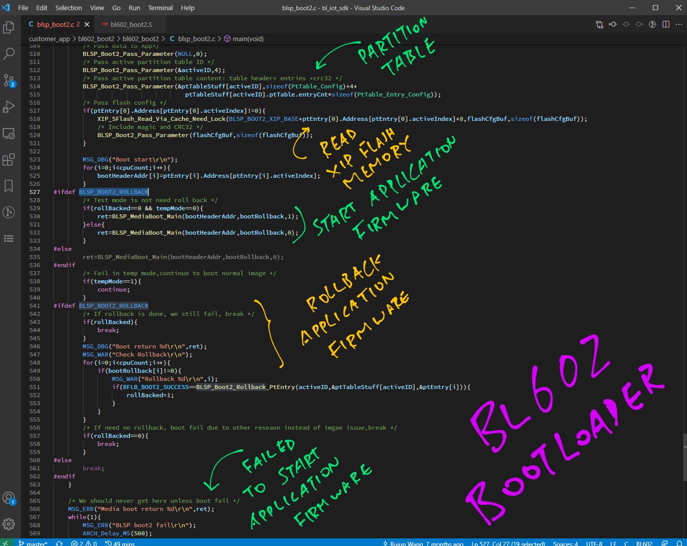 Bootloader Main Function