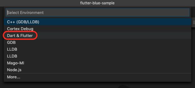 Select Debugger in VSCode