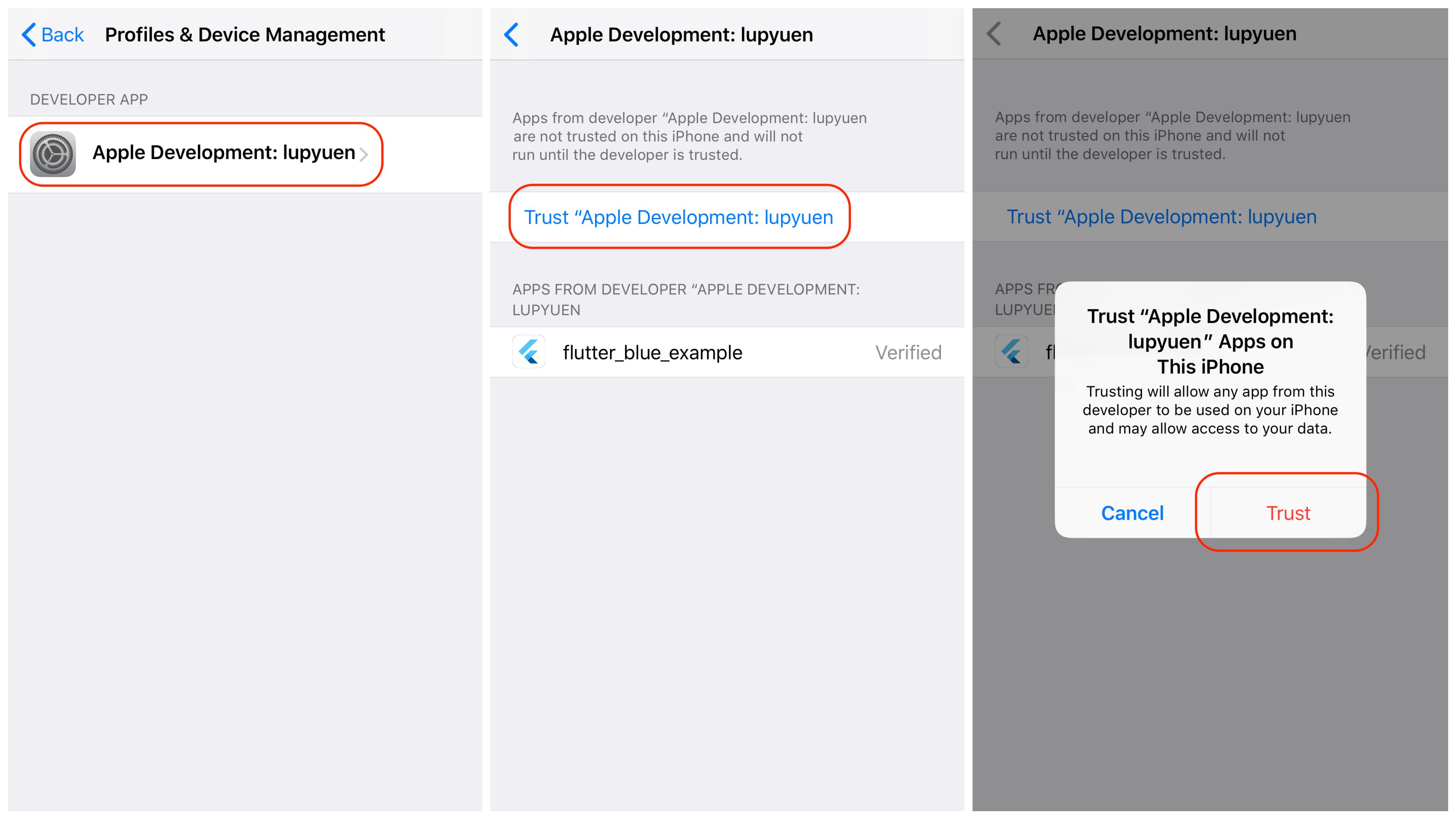 Trust iOS Developer