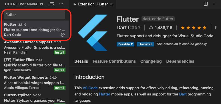 Flutter Extension for VSCode