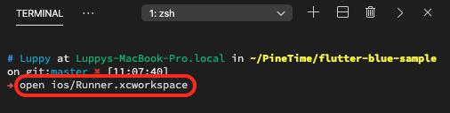 Open Xcode workspace