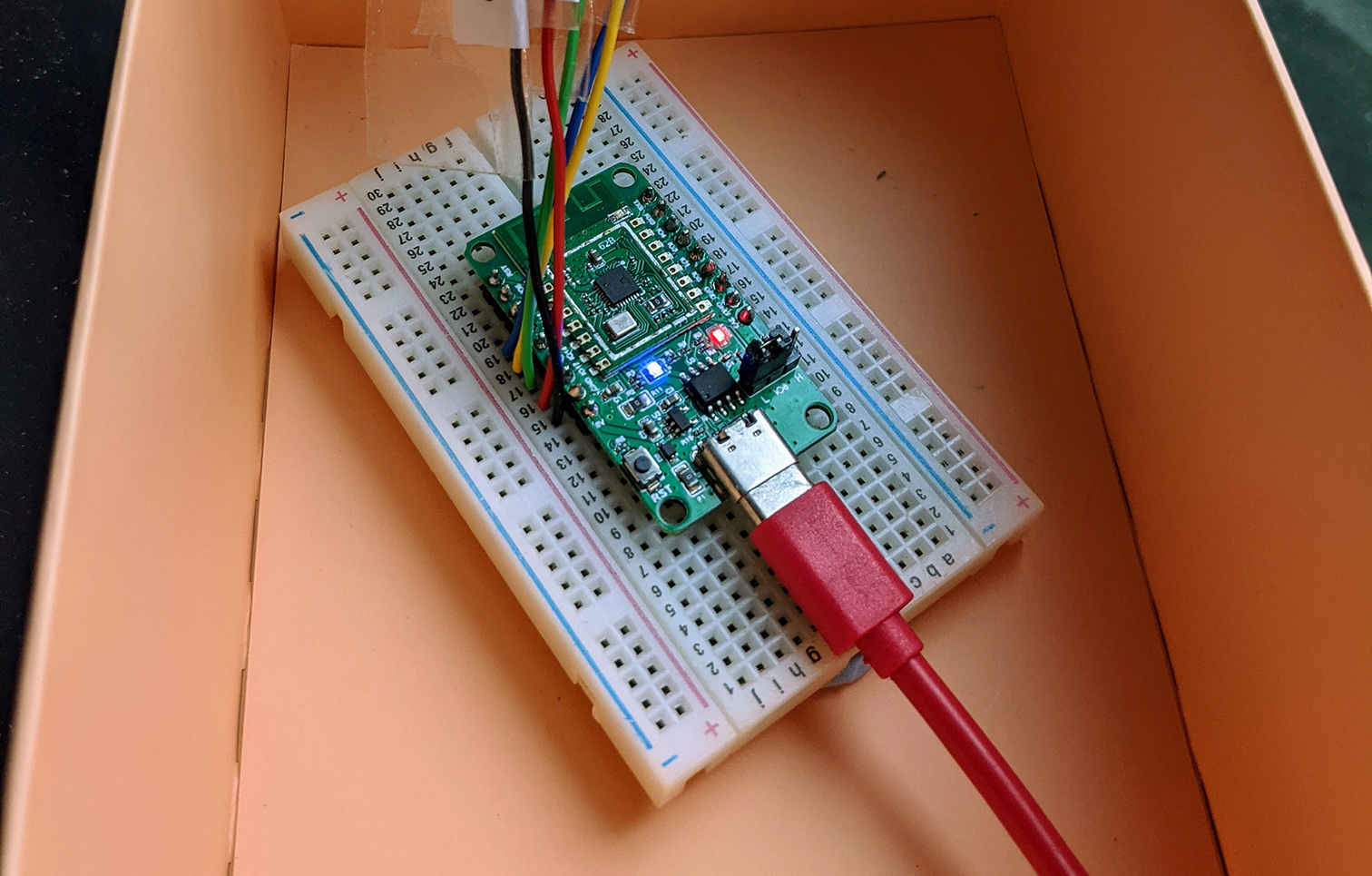 PineCone BL602 RISC-V Evaluation Board with LED controlled by Apache Mynewt