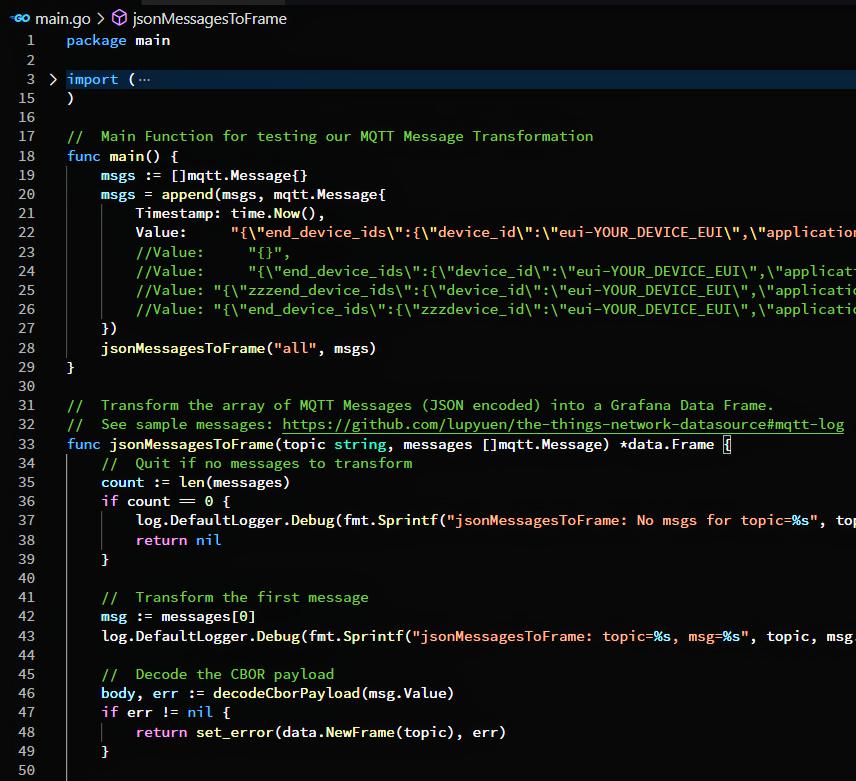 Testing the MQTT Message Transformation