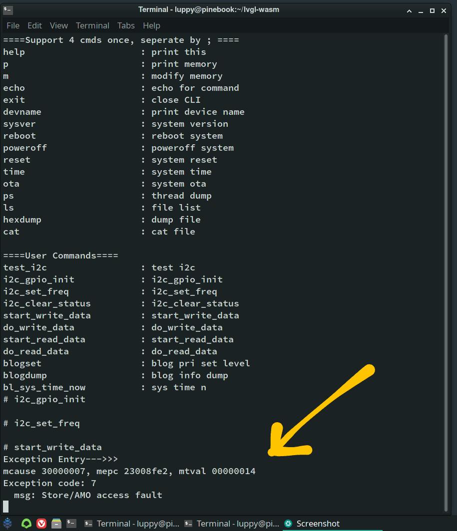 RISC-V Exception in sdk_app_i2c