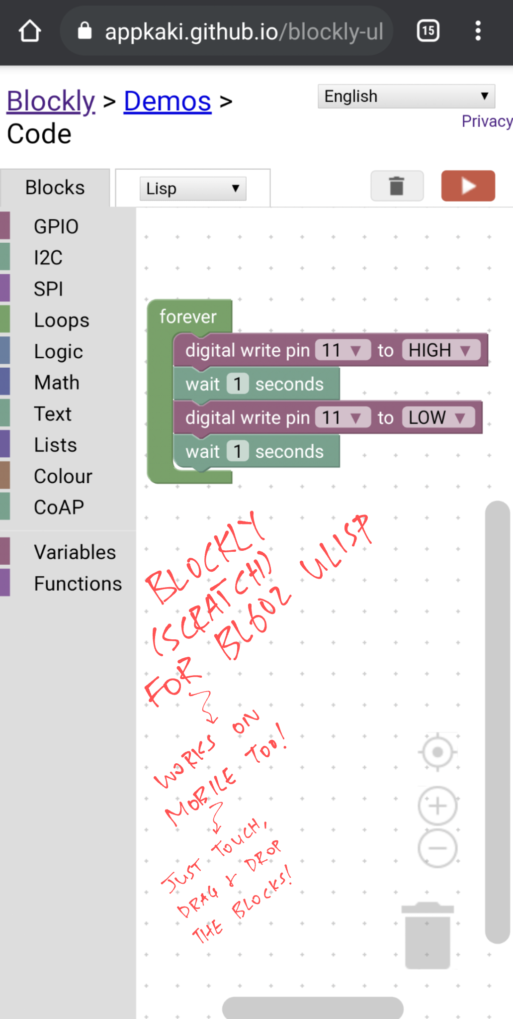 Blockly on Mobile