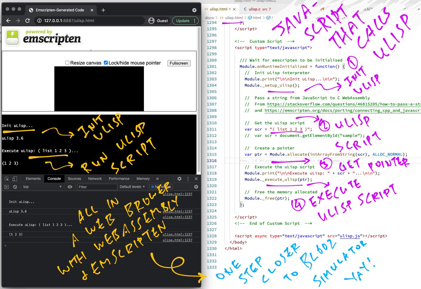 uLisp in WebAssembly