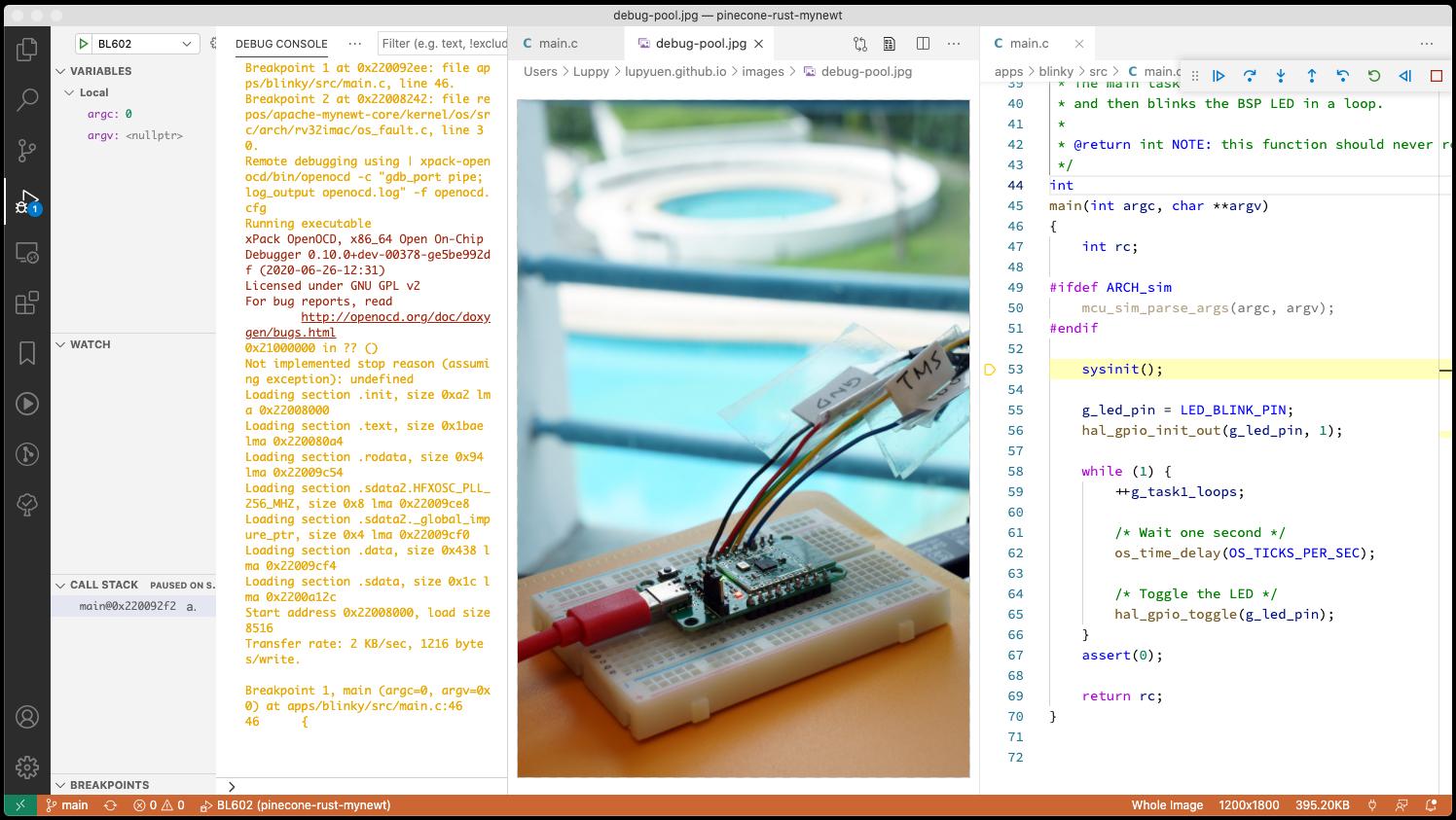 Debugging Mynewt Firmware with VSCode