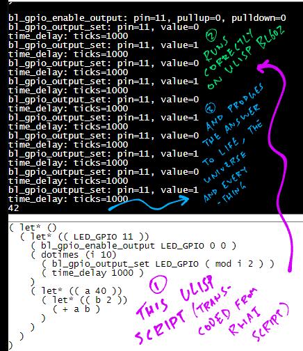 Running the Transcoded uLisp