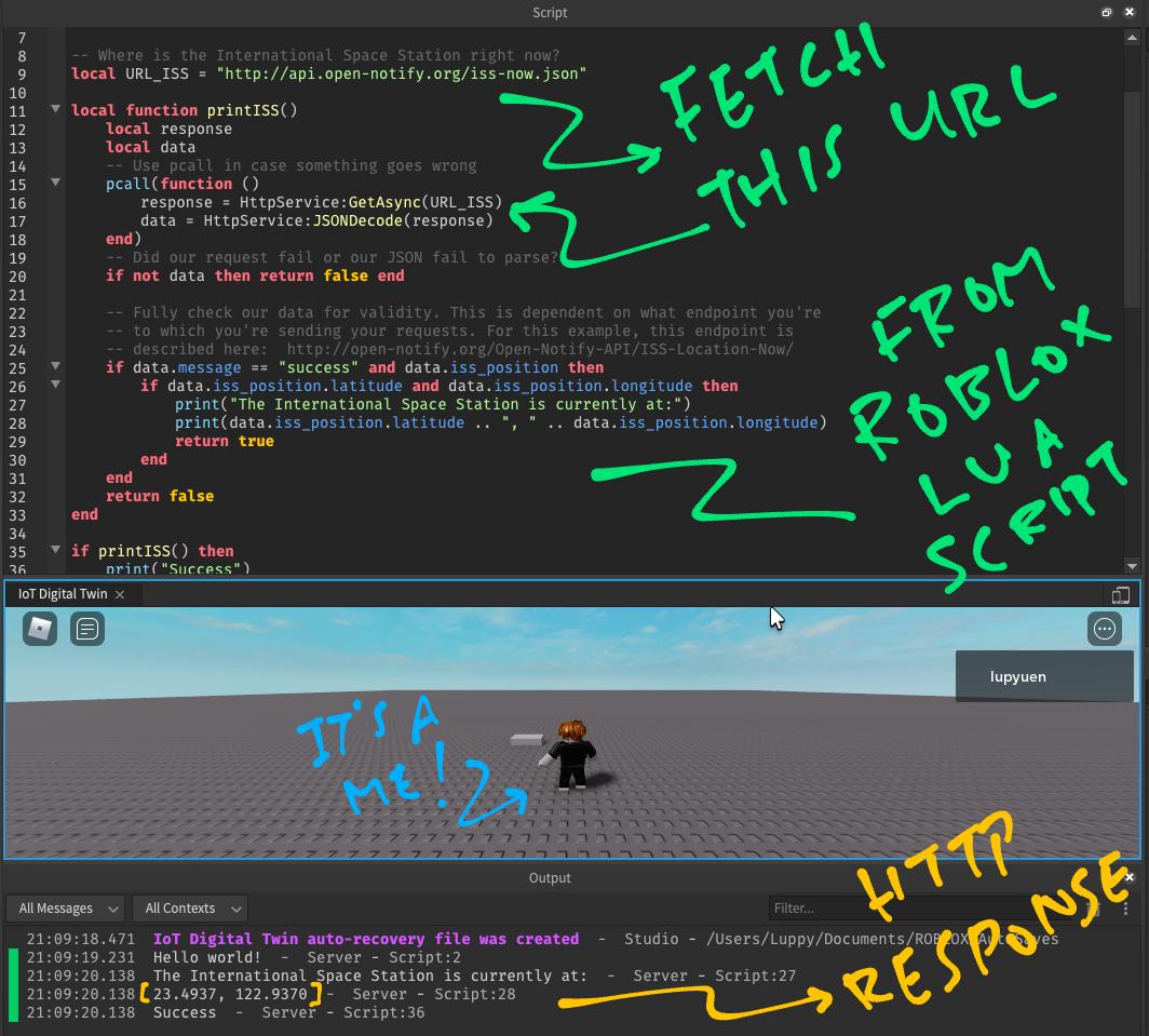 Roblox Lua Script calls HttpService