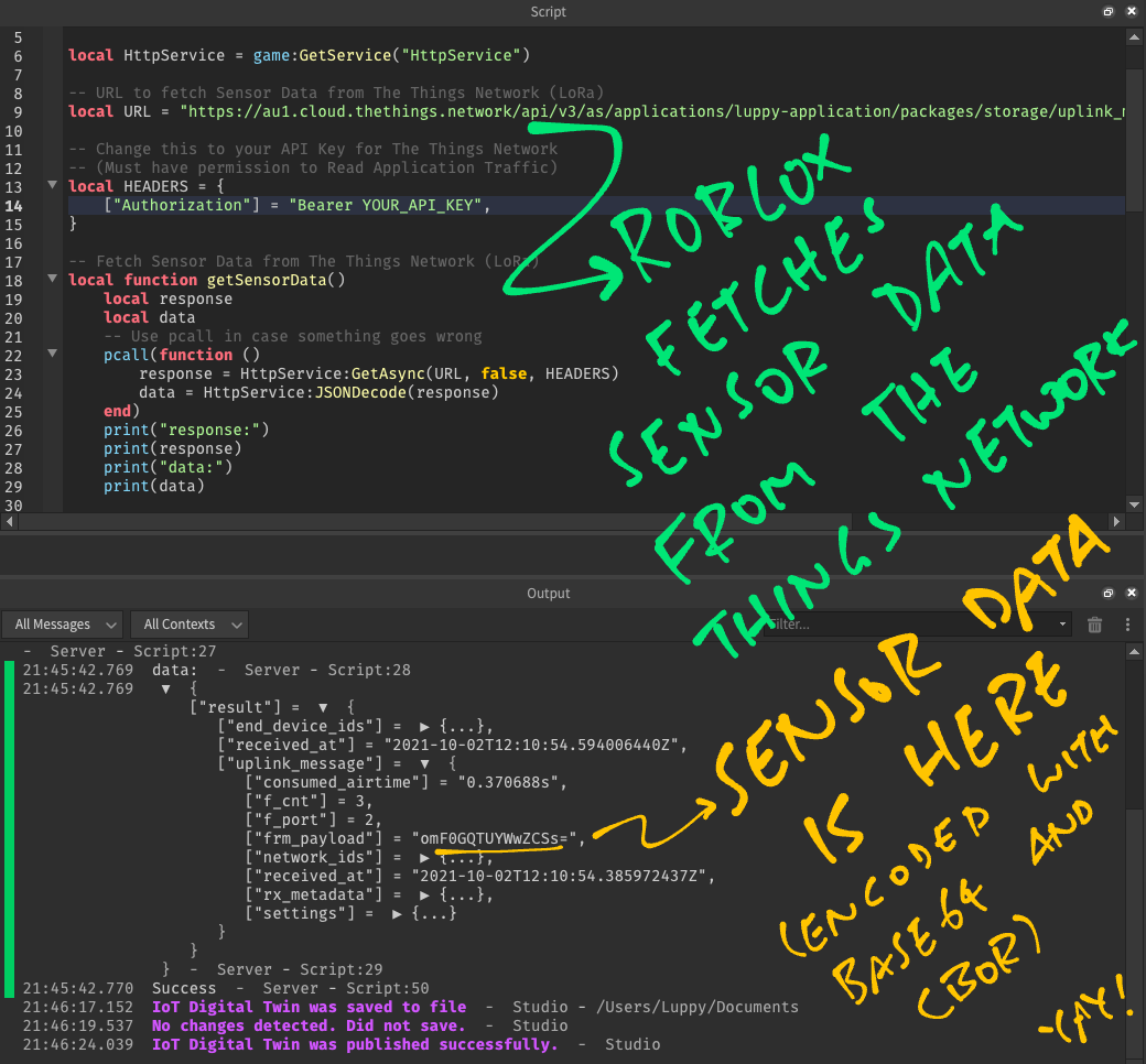 JSON HTTP Response decoded as Lua Table