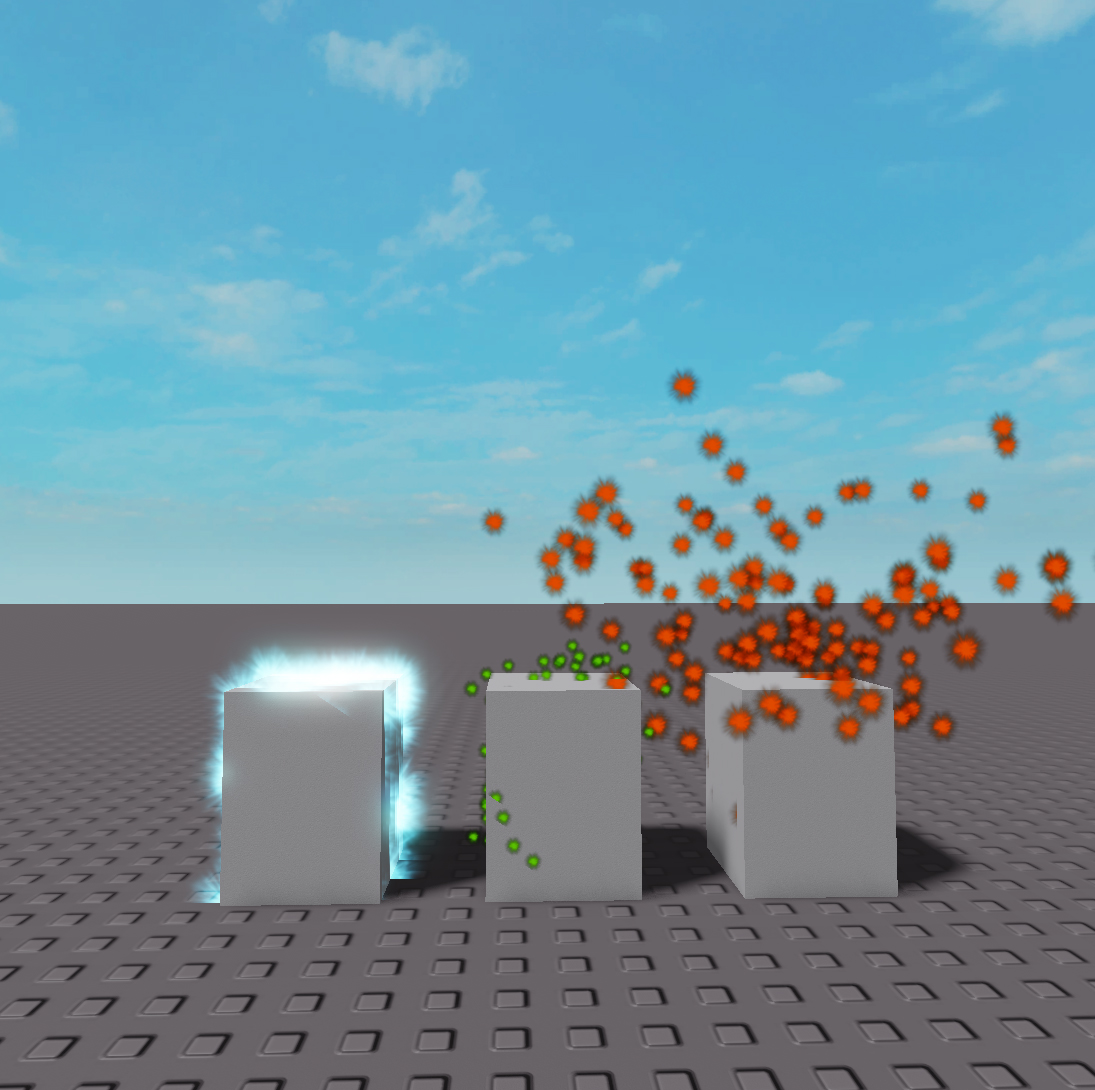 Cold / Hot / Normal IoT Objects rendered in Roblox
