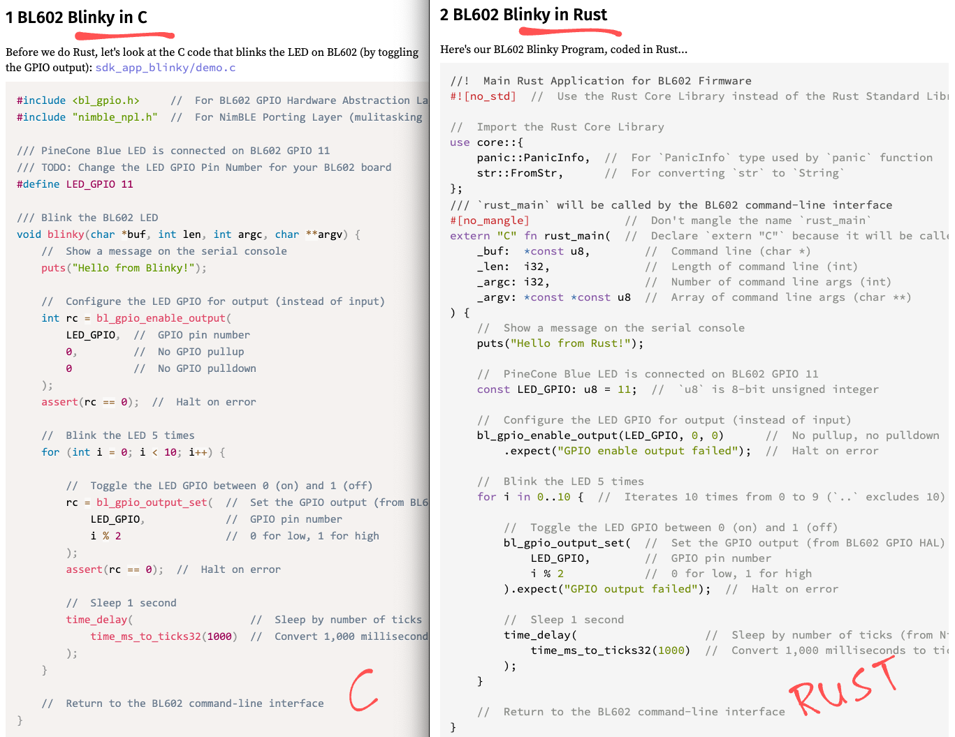 Code Switching from C to Rust
