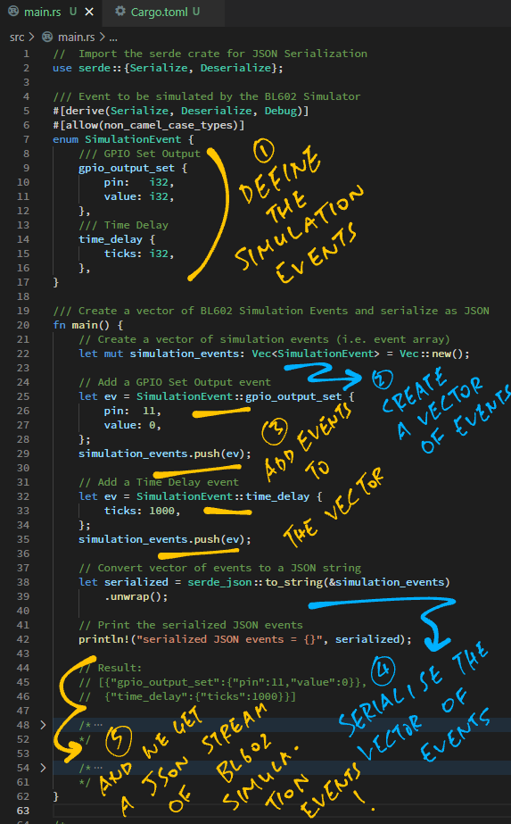 Generating Simulation Events in Rust