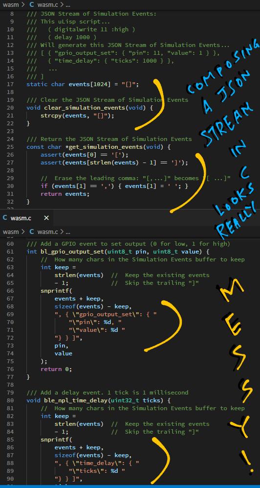 Generating Simulation Events in C