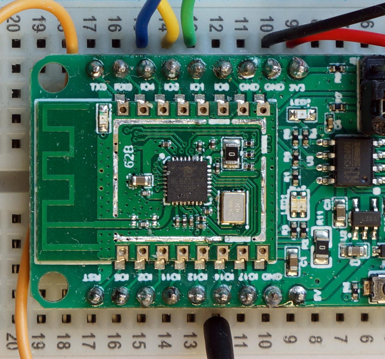 BL602 SPI Pins 1 (SDI), 3 (Clock), 4 (SDO) and 14 (Chip Select)