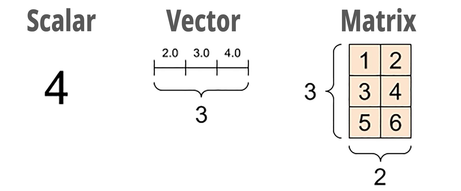 Scalar, Vector, Matrix