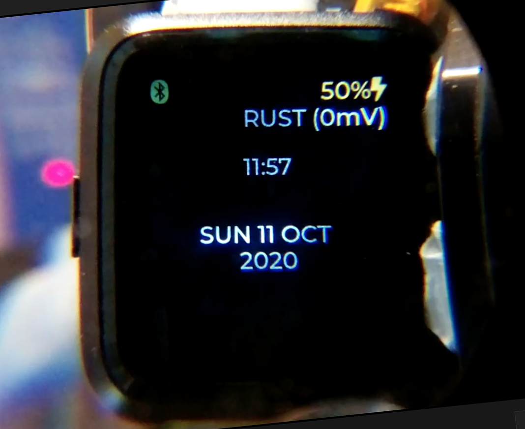 Watch face for PineTime Smartwatch rendered with LVGL