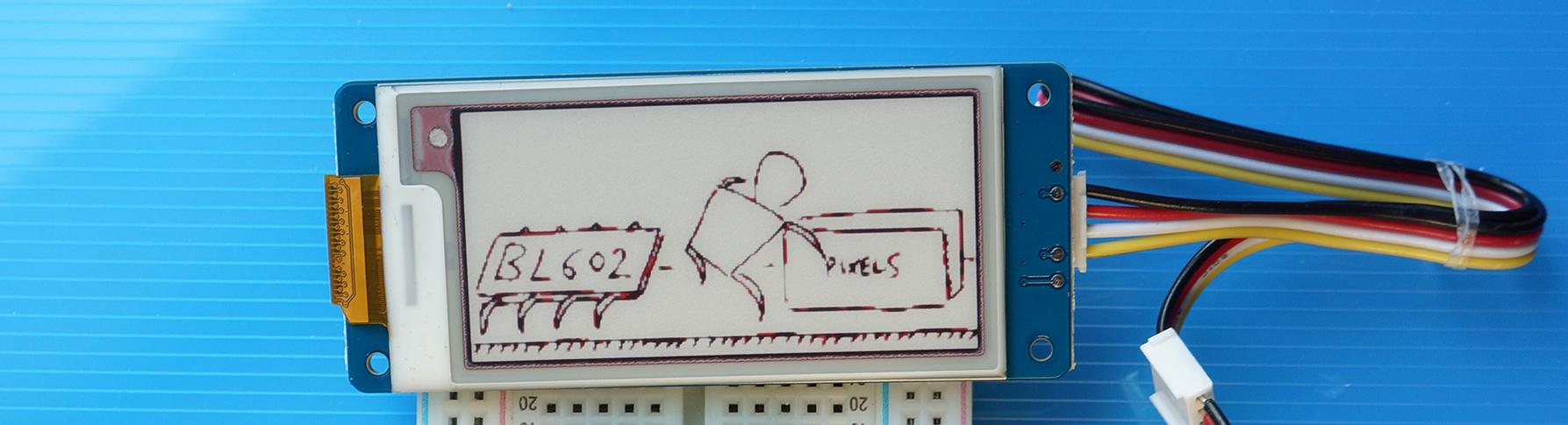 Grove E-Ink Display close up